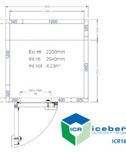 Iceberg Coldroom Range ICR1616 Layout